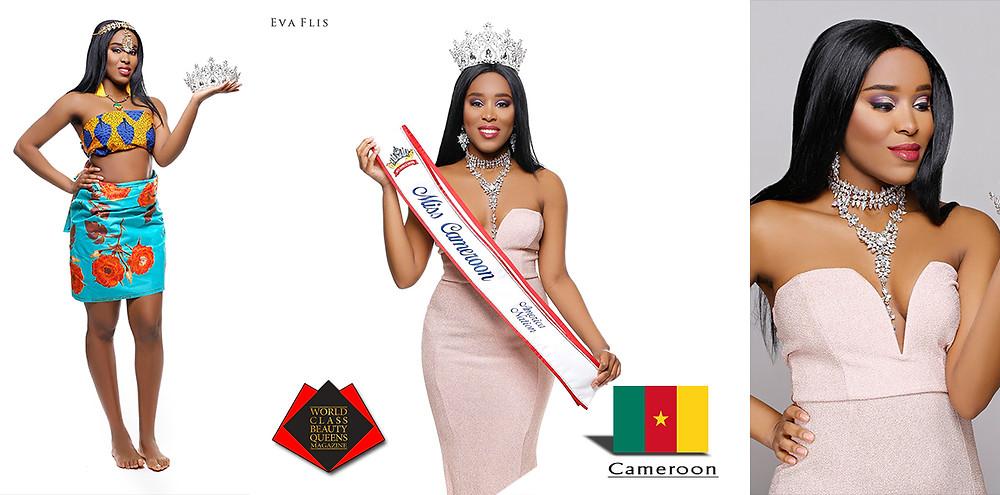 Oriane Medjom Toguem, Miss Cameroon America Nation, World Class Beauty Queens Magazine, Photo by Eva Flis
