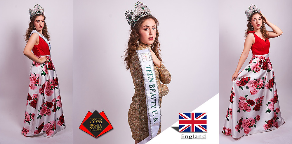 Nélia Martins Miss Teen Beauty UK 2018/2019, World Class Beauty Queens Magazine