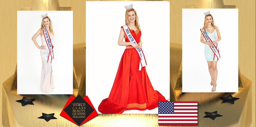 Jacquelyn Phelps Miss South Portland Maine For America 2020, World Class Beauty Queens Magazine,