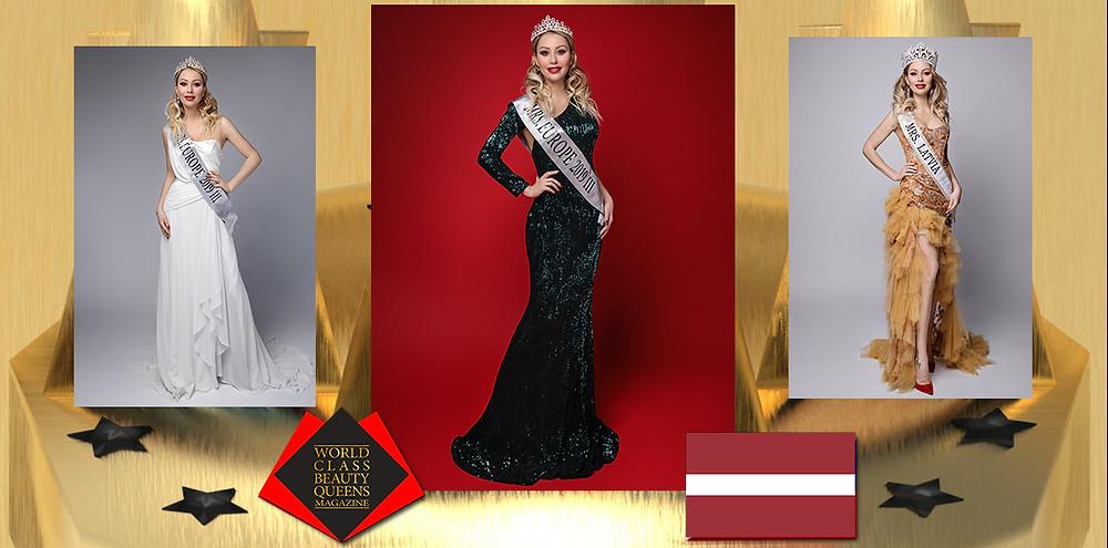 Polina Hansa Mrs Europe 3rd Runner Up, World Class Beauty Queens Magazine, Photo: Olga Lebedeva  Dress: Wedding Dress Boutique Fiancee