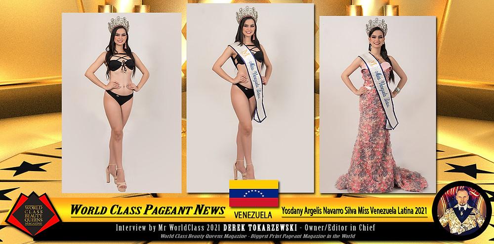 Yosdany Argelis Navarro Silva Miss Venezuela Latina 2021, World Class Beauty Queens Magazine,