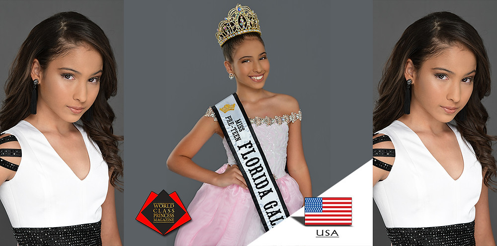 Giana Gonzalez Miss Preteen Florida Galaxy 2019, World Class Princess Magazine, Photo by Baron DaParre