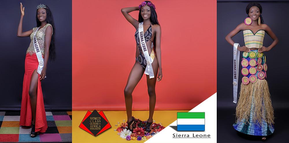 Esther Yeanoh Kamara Miss Landscapes International Sierra Leone 2019, World Class Queens of Africa Magazine