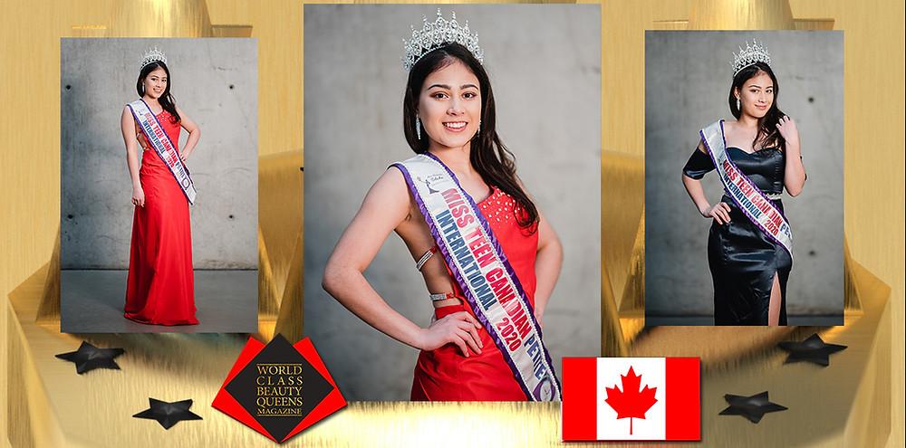 Alexa Gabriel Miss Teen Canadian Petite International 2020, World Class Beauty Queens Magazine,
