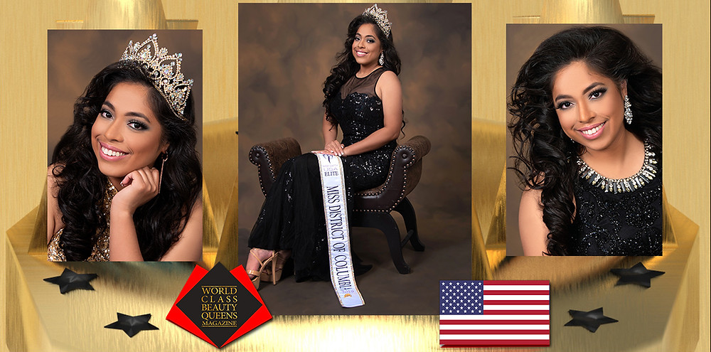 Cristinaelena Ruiz Miss Earth USA Elite Miss DC 2019, World Class Beauty Queens Magazine, Photography:  Christie Johnson at Portrait Reflections, HMUA: Josie Valdez at Josie faces