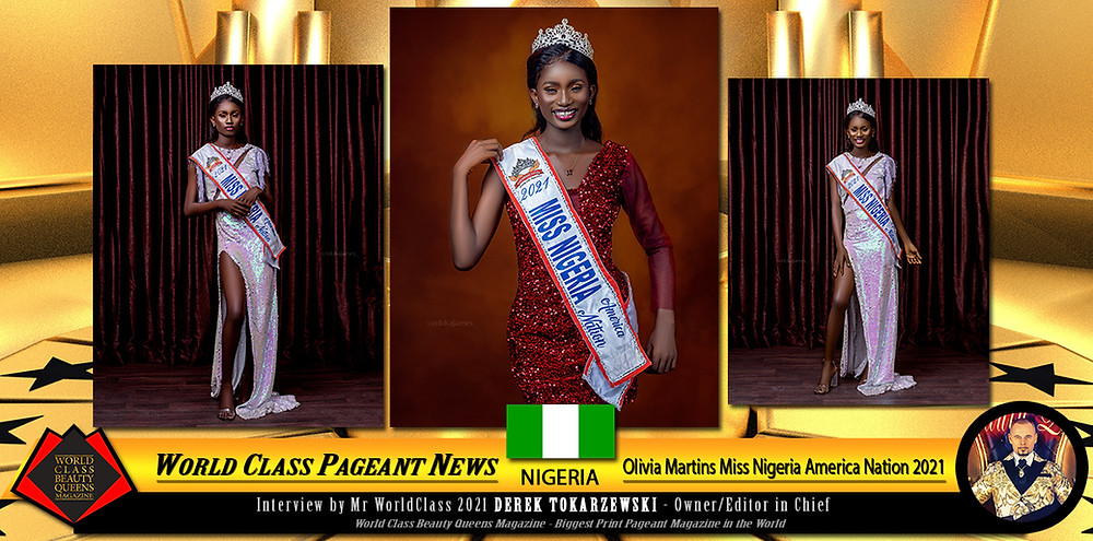 Olivia Martins Miss Nigeria America Nation 2021, World Class Beauty Queens Magazine,