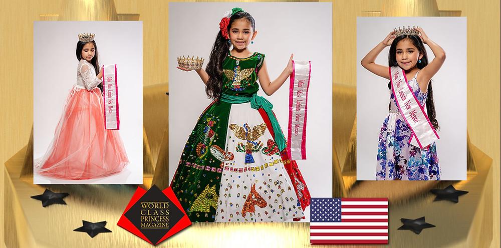 World Class Princess Magazine, Naileya Ruby Hernandez Mini Miss Latinita New Mexico 2019, Photo by J L Visuals