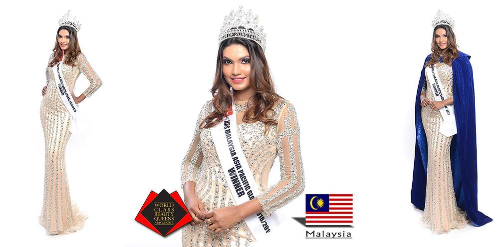 Mahisri Mrs Malaysia Asia Pacific Global 2018/2019, World Class Beauty Queens Magazine,
