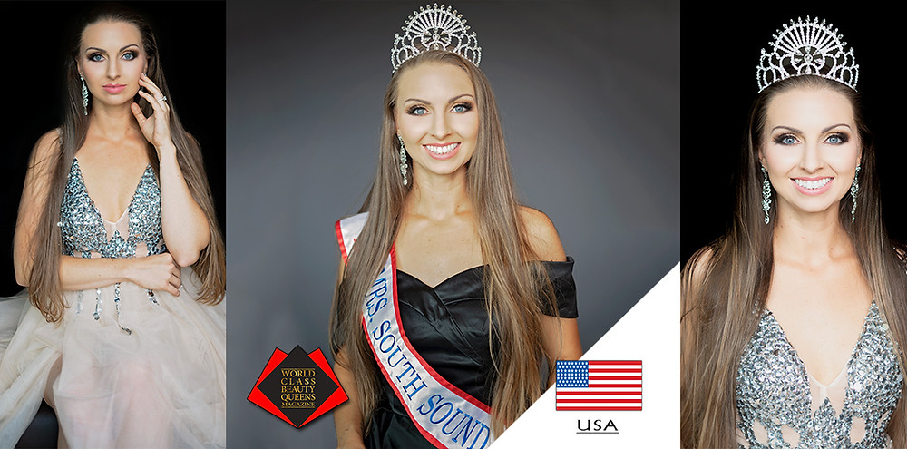 Brittany Sleeper Mrs South Sound 2020, World Class Beauty Queens Magazine,