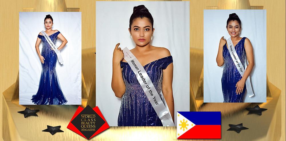 Jujelyn Villanueva Mrs. Philippines Globe 2019-Woman Leader of the year, World Class Beauty Queens Magazine, Photo By: Choi Intal Arcala