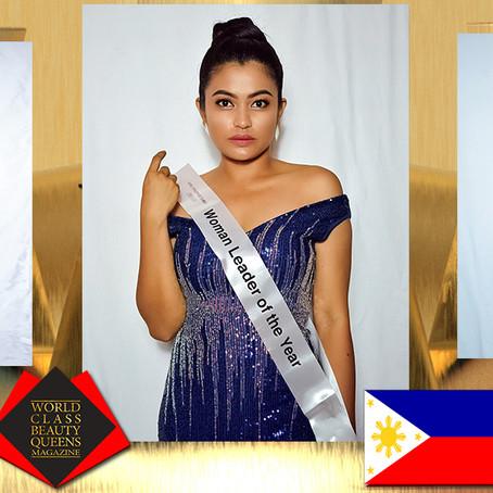 Jujelyn Villanueva Mrs. Philippines Globe 2019-Woman Leader of the year