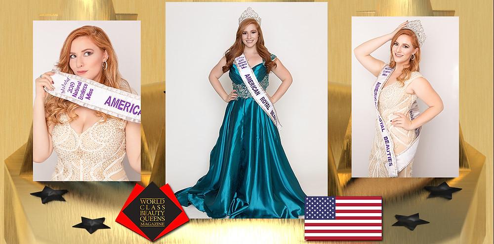 Marissa Dimond National Excellence Miss 2019-2020, World Class Beauty Queens Magazine,
