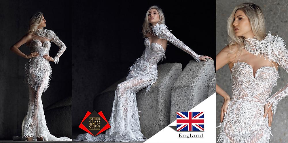 Cara Frew Miss Universe Great Britain Finalist 2019, World Class Beauty Queens Magazine, Photos by Nina Zimelong