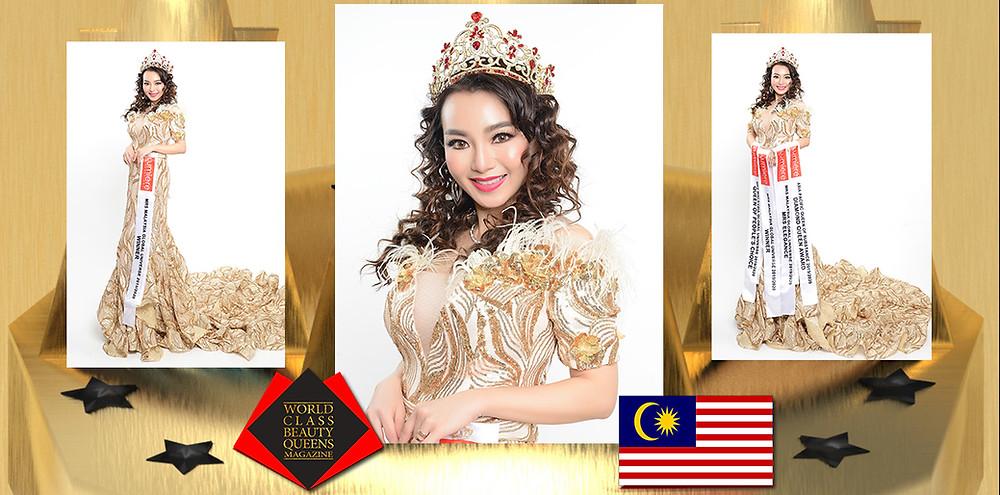 Shana Yong Wee Shien Mrs Malaysia Global Universe 2019/20, World Class Beauty Queens Magazine,