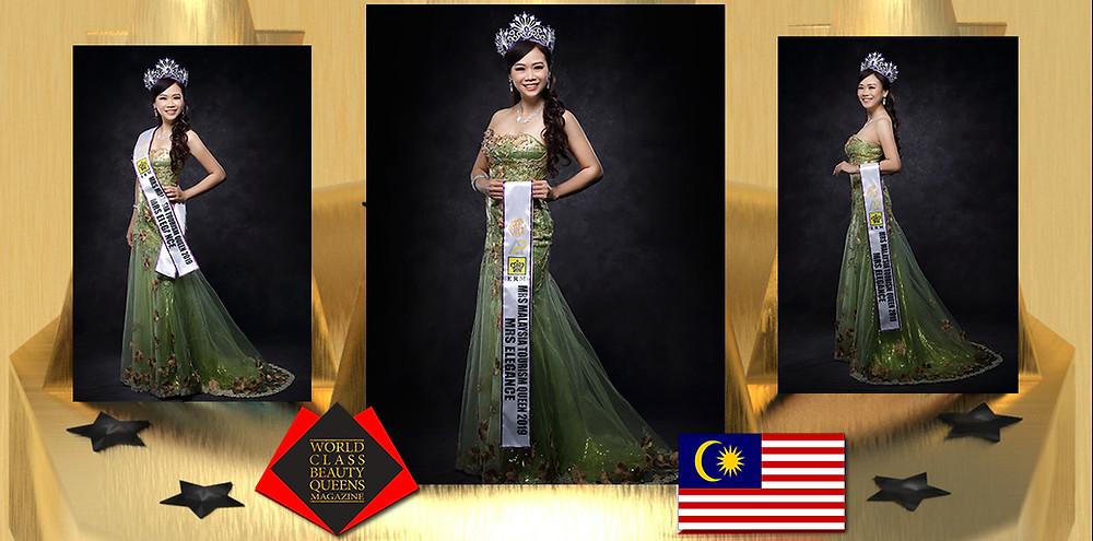 Jessie Gan Mrs Malaysia Tourism Queen International 2019, World Class Beauty Queens Magazine