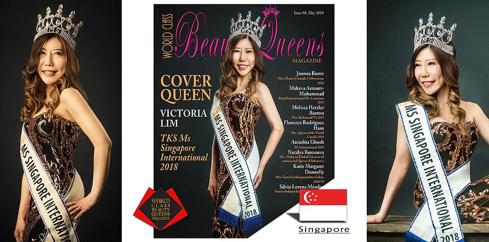 Victoria Lim  TKS Ms Singapore International 2018, World Class Beauty Queens Magazine,