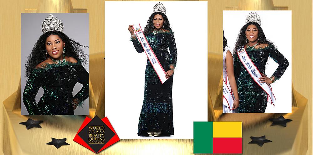 GloriaDjidonou MrsBenin Universe America Nation 2020, World Class Beauty Queens Magazine, Photo by Eva Flis Photography