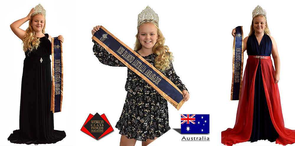 Haylee Simpson Miss Diamond Australia Ambassador 2017 to 2019, World Class Princess Magazine, Photo by Charlie Mancini