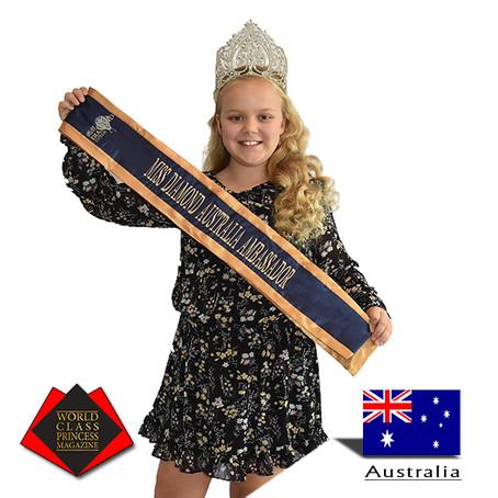 Haylee Simpson Miss Diamond Australia Ambassador 2017 to 2019