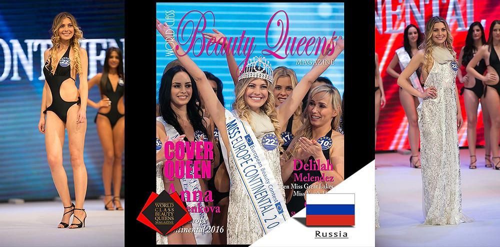 Anna Semenkova Miss Europe Continental 2017, World Class Beauty Queens Magazine,