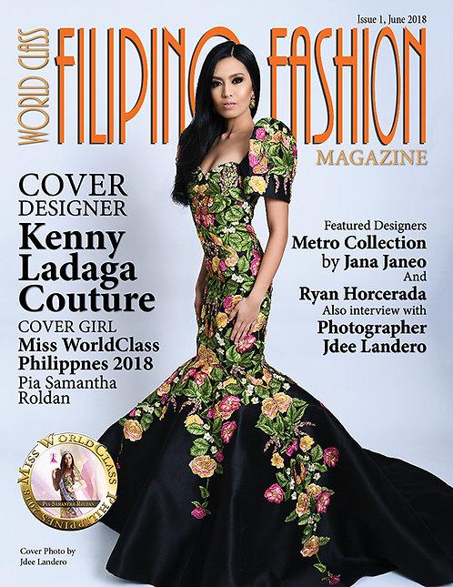 Issue 1 World Class Filipino Fashion Magazine