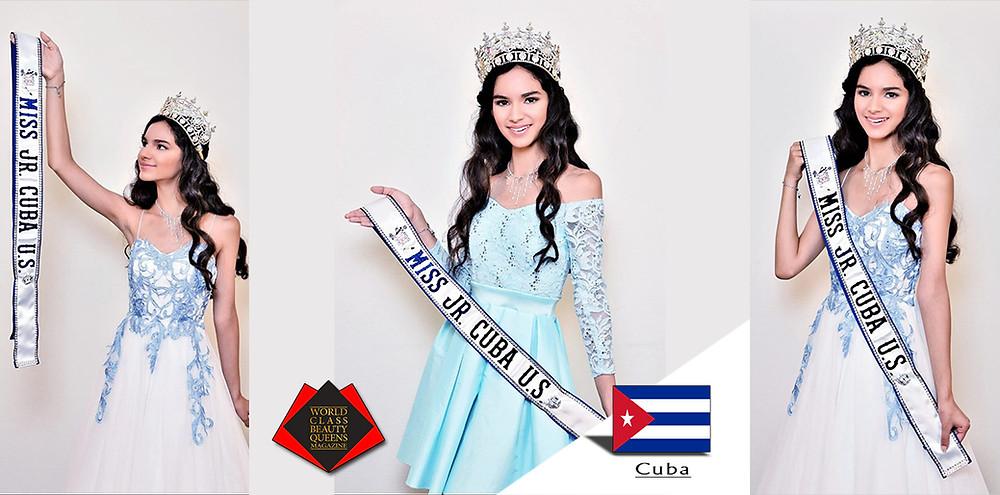 Jasmine Liz Martinez Miss Jr. Cuba U.S. 2019, World Class Beauty Queens Magazine, Photo by George Anthony Wakefield