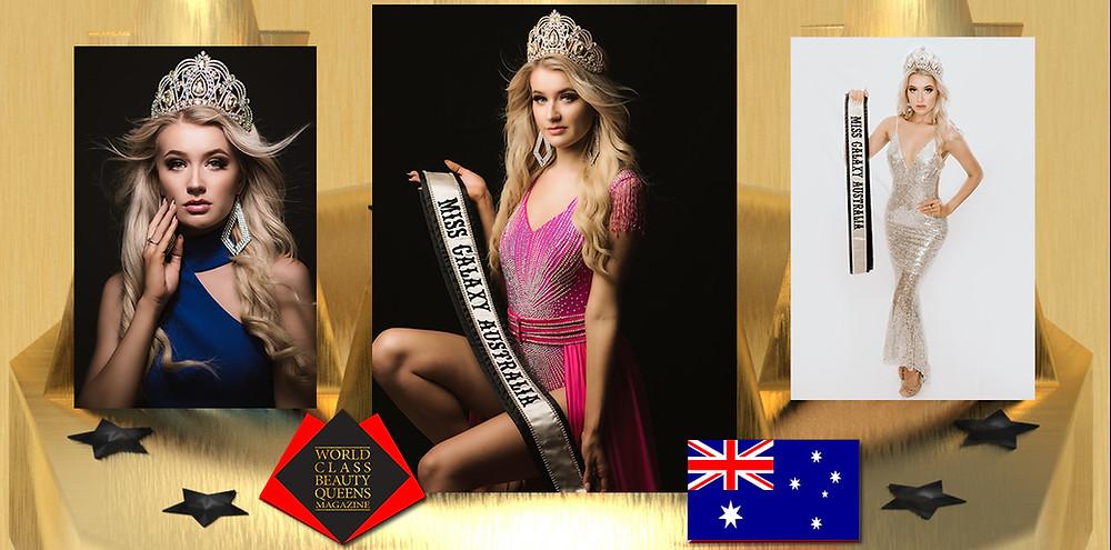 Brieanne Haafkens Miss Galaxy Australia 2020 , World Class Beauty Queens Magazine,