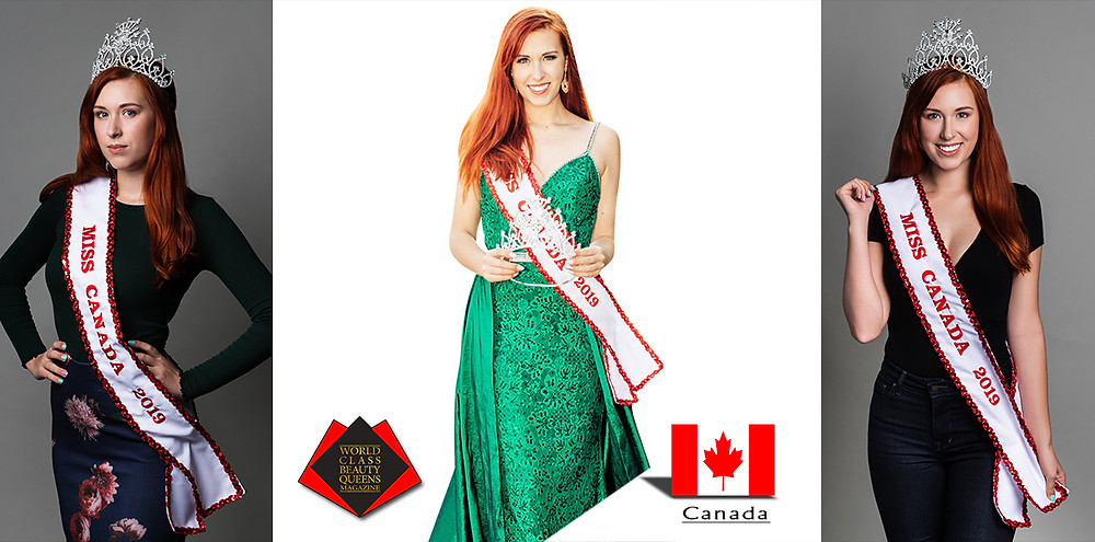 Christine Jamieson Miss Canada 2019, World Class Beauty Queens Magazine