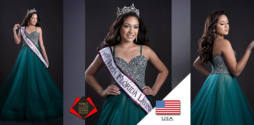 Arlette Mackliff Miss Teen Florida Latina 2019, World Class Beauty Queens Magazine,