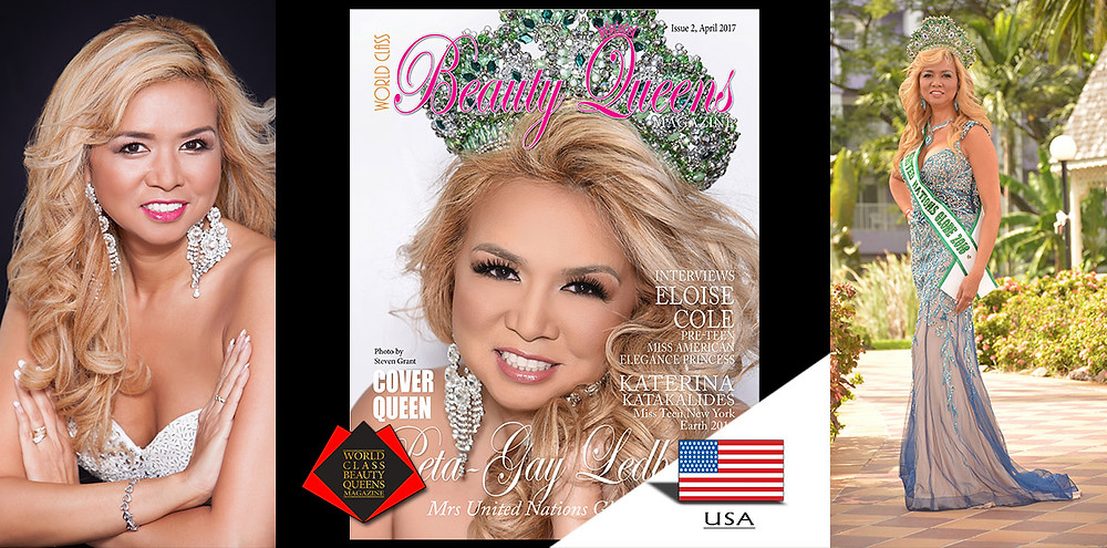 Peta-Gay Ledbetter Mrs United Nations Globe 2016, World Class Beauty Queens Magazine,