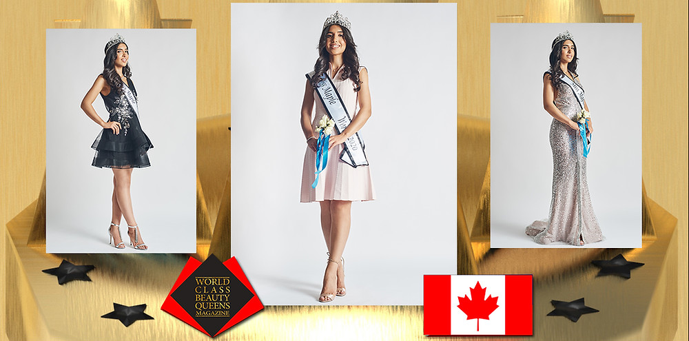 Melody Ghaderi Miss Maple World/2020, World Class Beauty Queens Magazine,