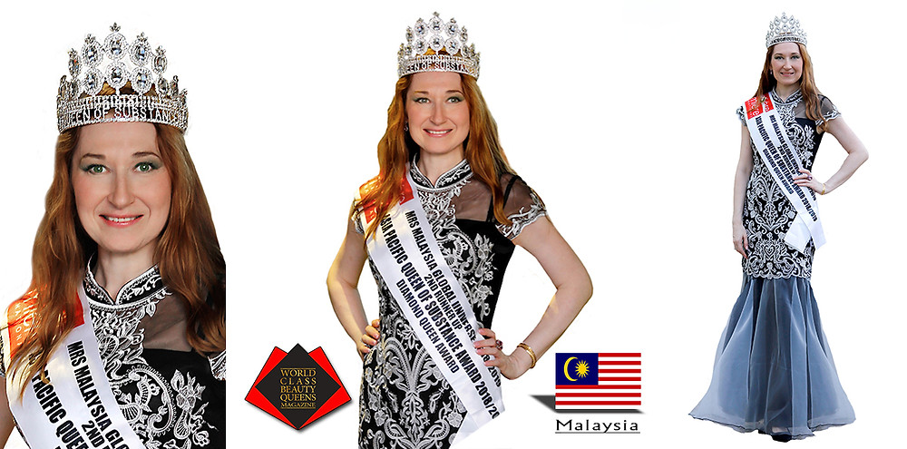 Natalya Bronzova Mrs. Malaysia Global Universe 2d runner and Queen of Substance, World Class Beauty Queens Magazine,