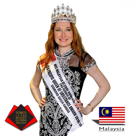 Natalya Bronzova Mrs. Malaysia Global Universe 2d runner and Queen of Substance