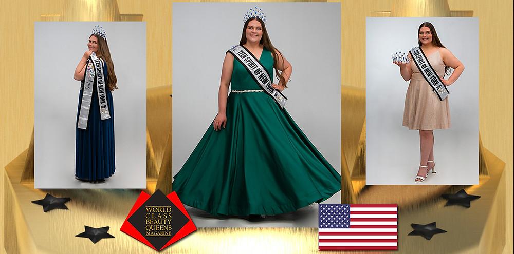 Emily Theresa MacDavitt Teen Spirit of New York 2021, World Class Beauty Queens Magazine, Photo by: Michael A. Panzarino at M.A.P Graphics, Hair and Makeup: Kayla Dostie