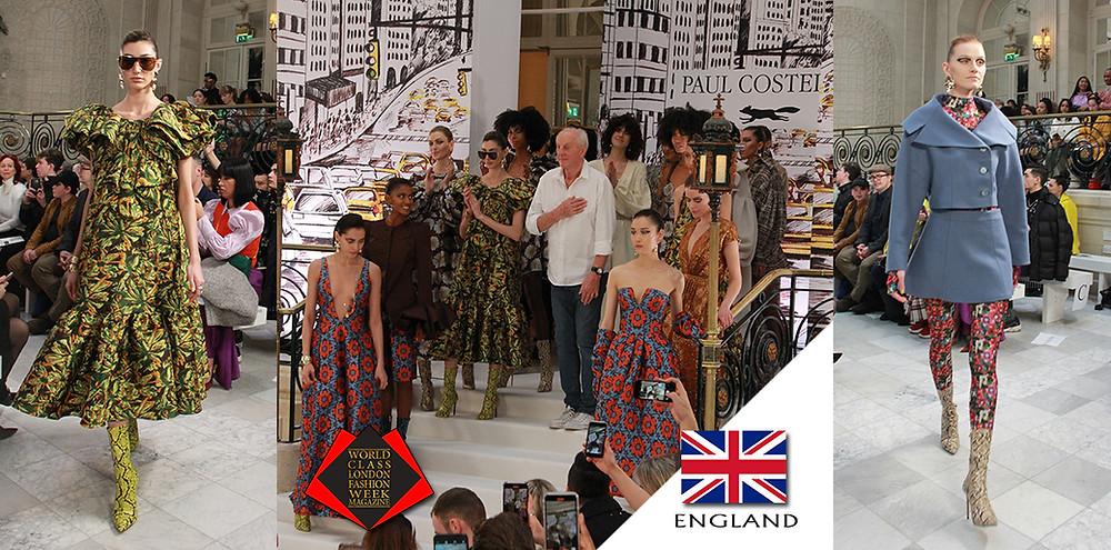 Paul Costelloe, London Fashion Week Autumn/Winter 2020, World Class London Fashion Week Magazine