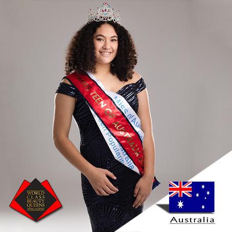 Josaphine Hikairo Miss Teen of Australia 2018