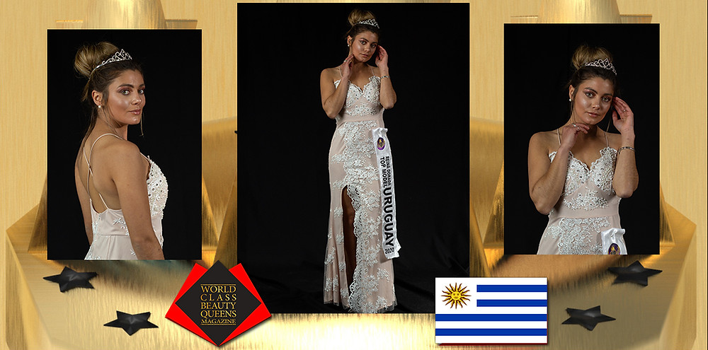 Lucia Vanessa Diaz Bentancor Reina Top Model Dorada Uruguay 2020, World Class Beauty Queens Magazine, Photographer Cristian Machín. Stylist Ana Luisa Taliercho.
