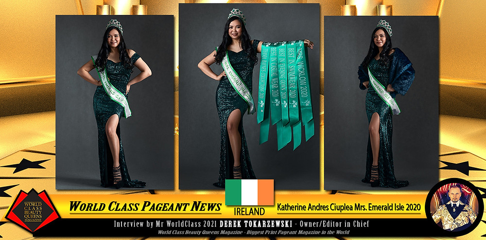 Katherine Andres Ciuplea Mrs. Emerald Isle 2020, World Class Beauty Queens Magazine,