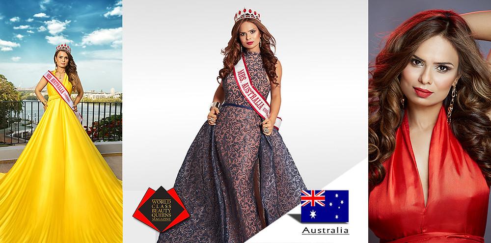 Upma Kite Mrs Australia Universal 2019, World Class Beauty Queens Magazine,