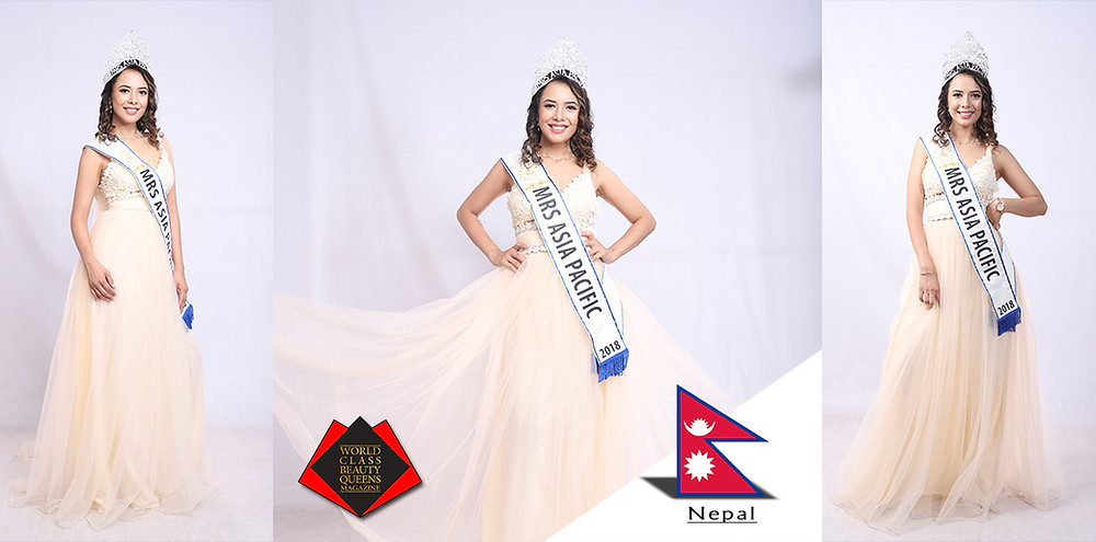 Chanda Thapa TKS Mrs. Asia Pacific 2018, World Class Beauty Queens Magazine,