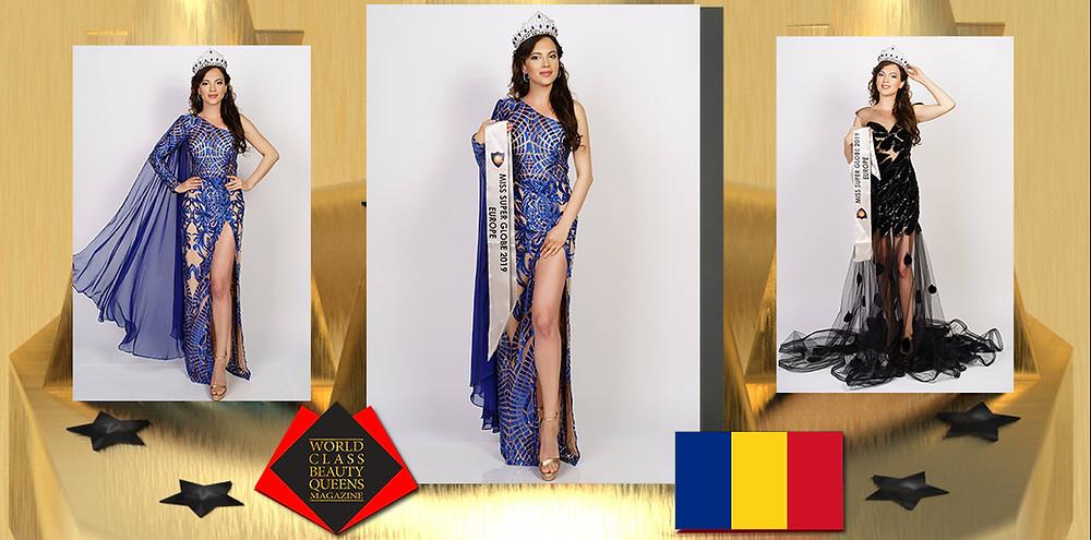 Irina Berdila Miss Europe Super Globe 2019, World Class Beauty Queens Magazine, Photo by Remus Nicolaescu