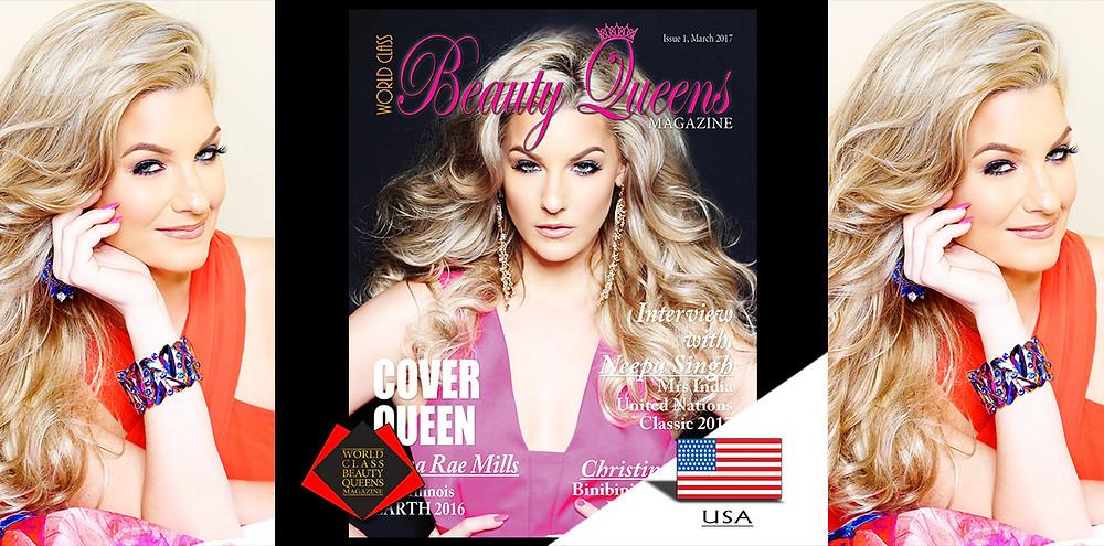 Jenna Rae Mills Miss Illinois Earth 2016 United States, World Class Beauty Queens Magazine,