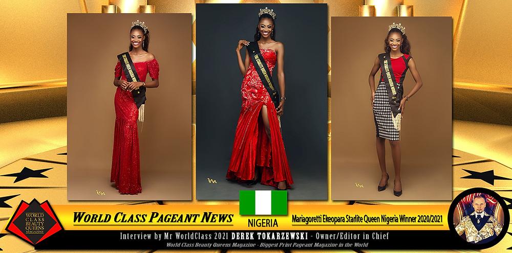 Mariagoretti Ekeopara Starlite Queen Nigeria Winner 2020/2021, World Class Beauty Queens Magazine,