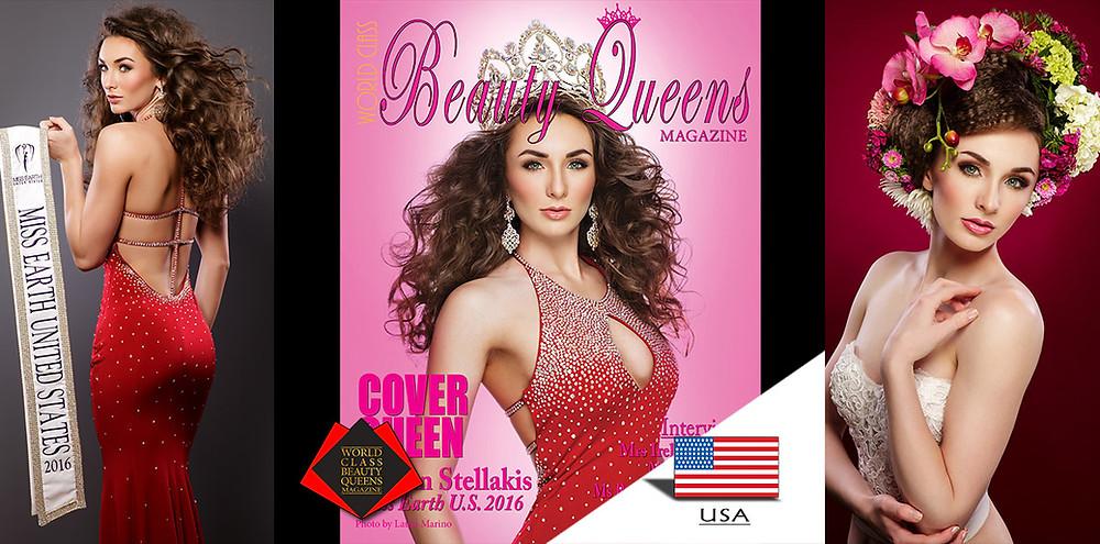 Corrin Stellakis Miss Earth U.S. 2016, World Class Beauty Queens Magazine, Photo by Laura Marino