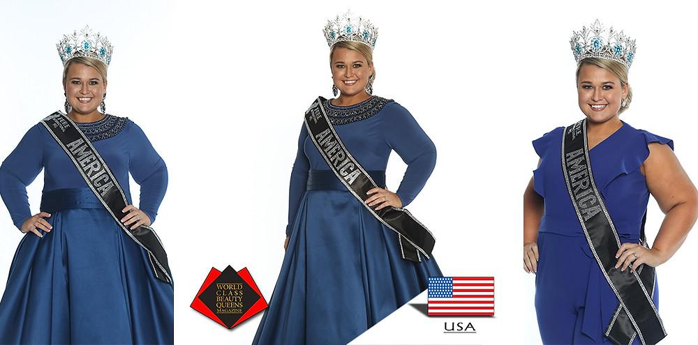 Laura Whitaker 2019 Pure International Ms. America, World Class Beauty Queens Magazine,