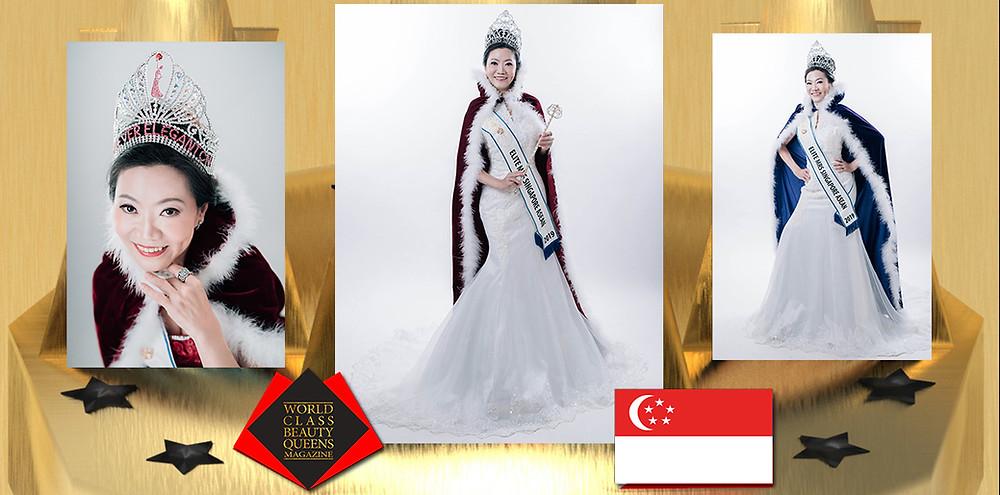 Annie Ong TKS Elite Mrs Singapore ASEAN, World Class Beauty Queens Magazine,