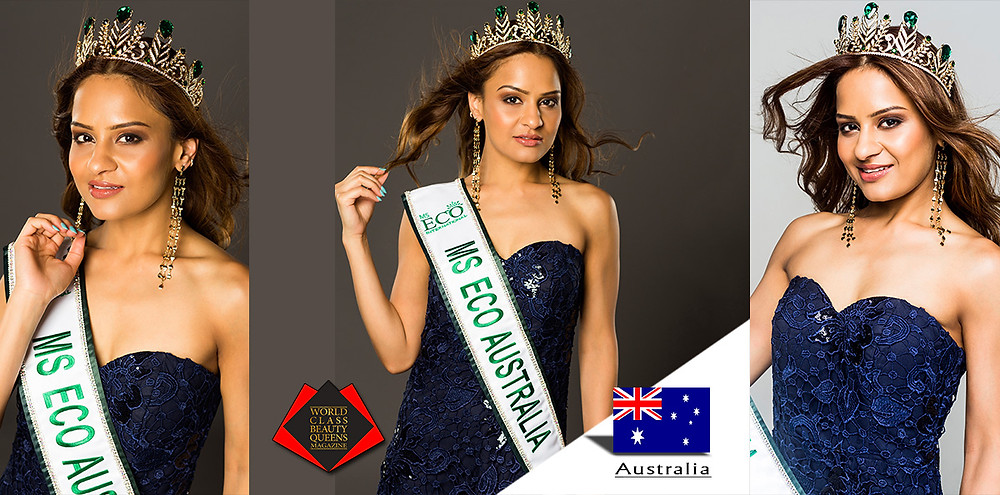Smriti Goyal Ms. ECO Australia 2019, World Class Beauty Queens Magazine