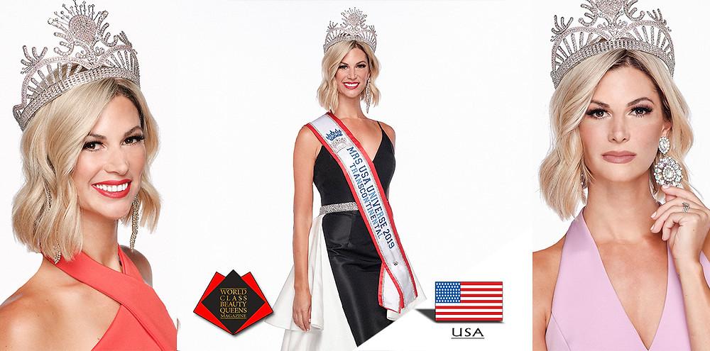 Katheryn Clatterbaugh Mrs. USA Universe 2019, World Class Beauty Queens Magazine, Photos by Scott S. Clinton