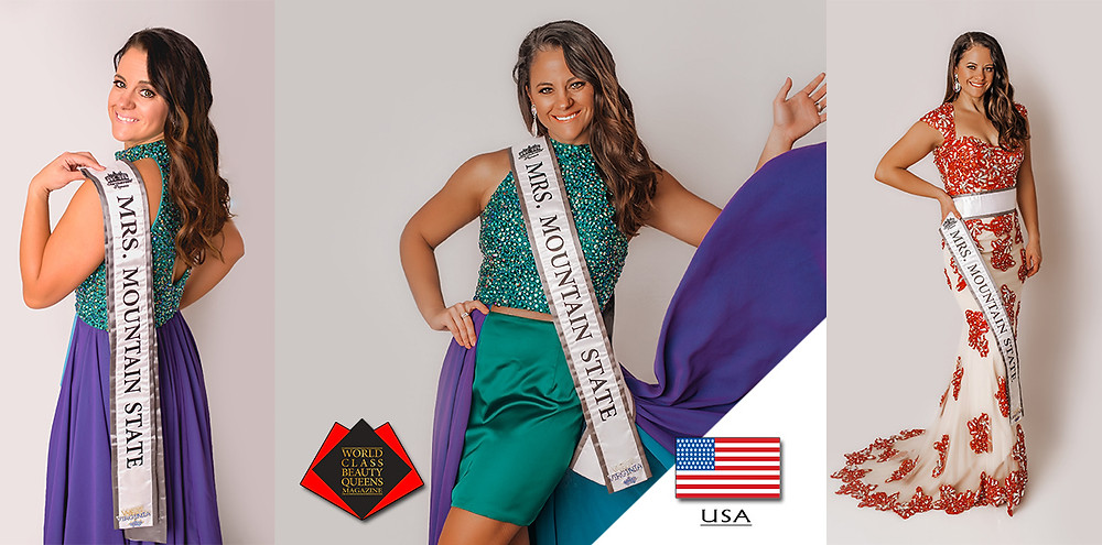 Kari Beth Park 2019 Mrs. Mountain State Captivating, World Class Beauty Queens Magazine,