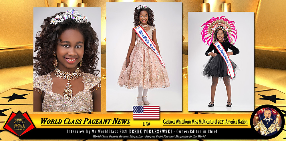 Cadence Whitehorn Miss Multicultural 2021, World Class Beauty Queens Magazine, Photo by Eva Flis Photography, Make up: Yadira Amador